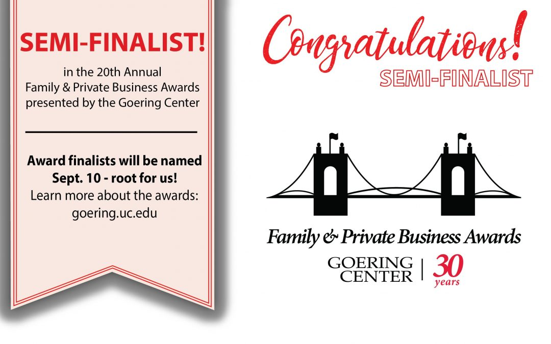 2019 Goering Center Family and Private Business Award Semi-Finalist